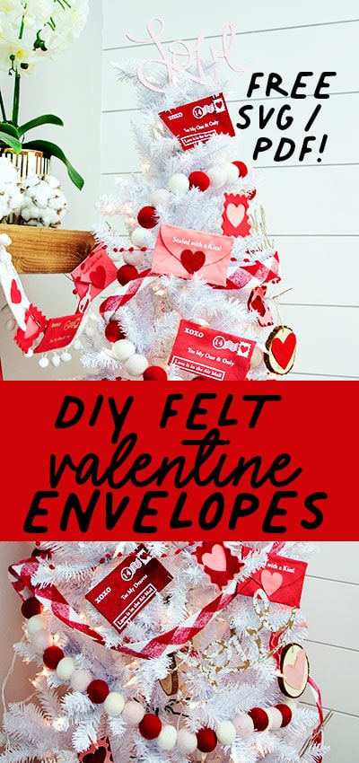This Felt Valentine Envelope DIY (No Sew + FREE template) is versatile. Use it as a tree decoration, a garland or strewn about your centerpiece. They can serve as functioning envelopes or can be just for decor - it's your choice! While I've used felt in this tutorial - the envelope pattern will work with cardstock - but I don't think it will look as cute!