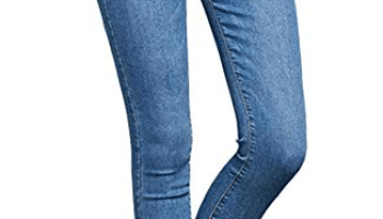 6229495ac2dc0 mayarayli Women s Winter Plus Size Fleece Lined Jeans High Waist Slim Fit  Stretch Skinny Denim Jeans