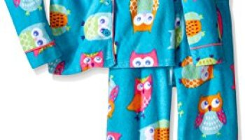 Komar Kids Girls  Big Hooded Soft Plush Fleece 2 Piece Pajama Set ... 72d0b6b28