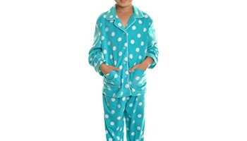 e7b032edb0 Angelina Womens Fleece Pajama Set (Blue   White Anchors