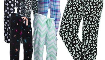 50d579545f5 Women s Printed Plush Fleece Pajama Pants Soft Plush Loungewear PJ s  Drawstring