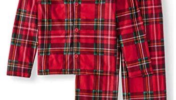 626ecb31fde Komar Kids Boys Traditional Holiday Christmas Plaid Coat Style Pajamas Set