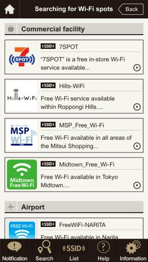 lists of Free Wifi