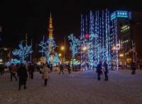 White Illumination in Odori Koen Park