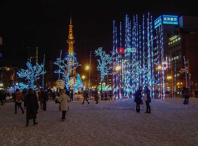 White Illumination in Odori Koen Park