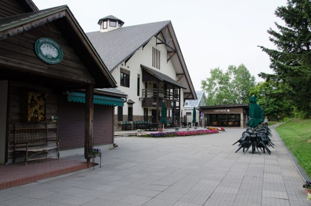 a main house and cafe