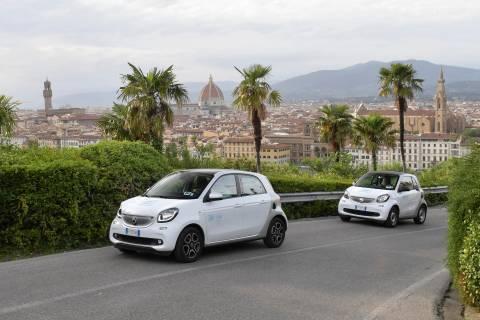 Car2go: Presentata la nuova flotta che arriverà a Firenze