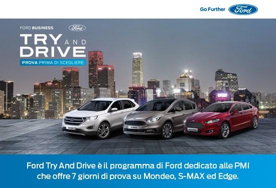 Ford Italia: Try and Drive, il nuovo servizio dedicato alle aziende