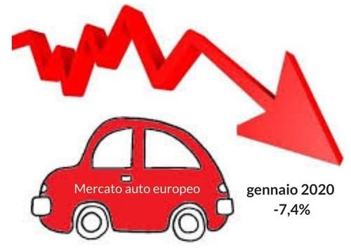 Crisi mercato auto europeo: gennaio sottotono -7,4%