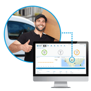 FleetMode manager portal showing happy driver