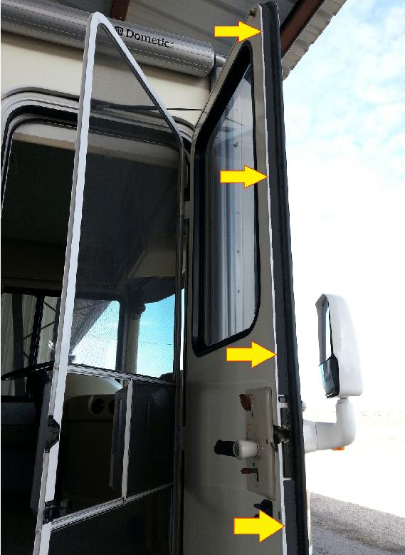 Fleetwood RV Weatherstripping   Outer Door