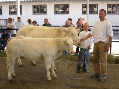 Familie Eder mit ihrer WBB Kuh