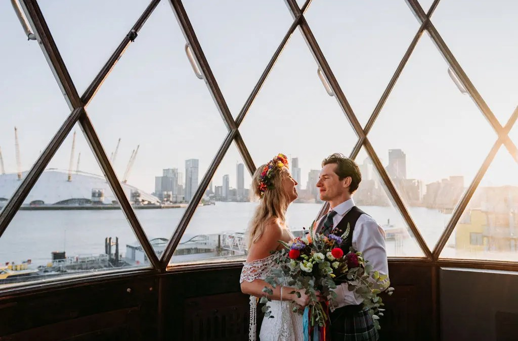 Colourful Trinity Buoy Wharf Wedding | Lucy & James part 2!