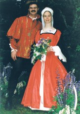 Couple in medieval dress