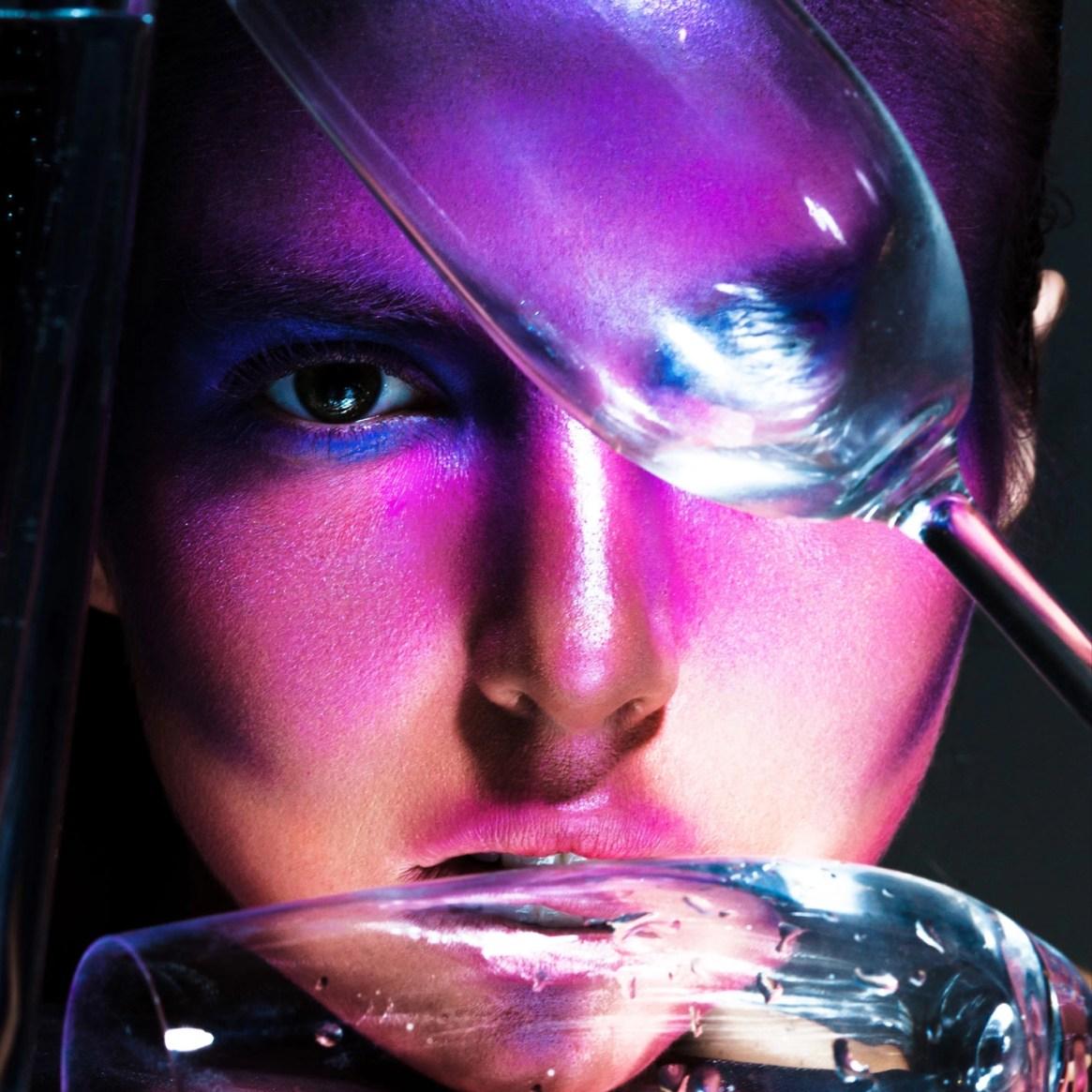 Heart of Glass FLESH Magazine Photo Veronica Formos, Make Up & Hair Amenjot Minhas
