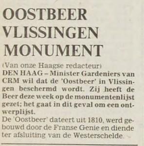 oostbeer 24 mei 1980