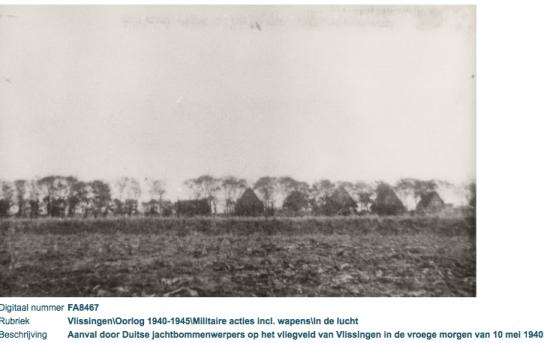 bomaanval vliegveld vlissingen 10 mei 1940