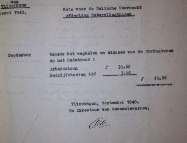 Rechnung für die Wehrmacht 1