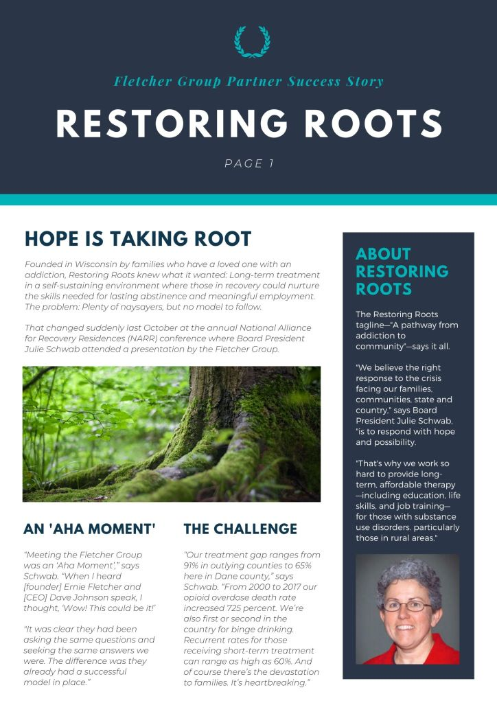 COVER OF RESTORING ROOTS SUCCESS STORY