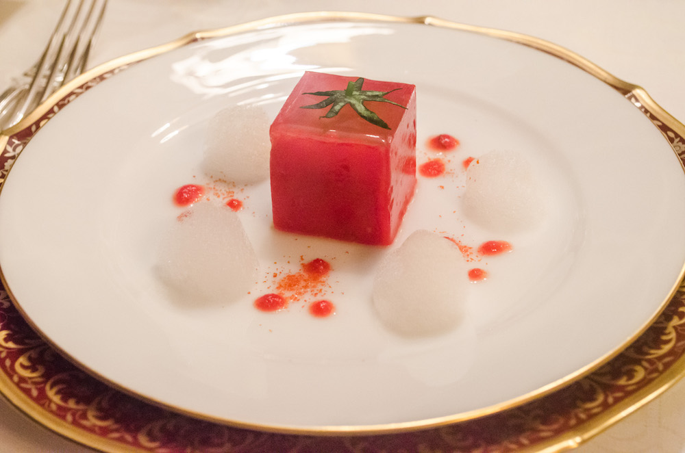 fleurdelilah the crescent restaurant french michelin tokyo compression de tomate tomato