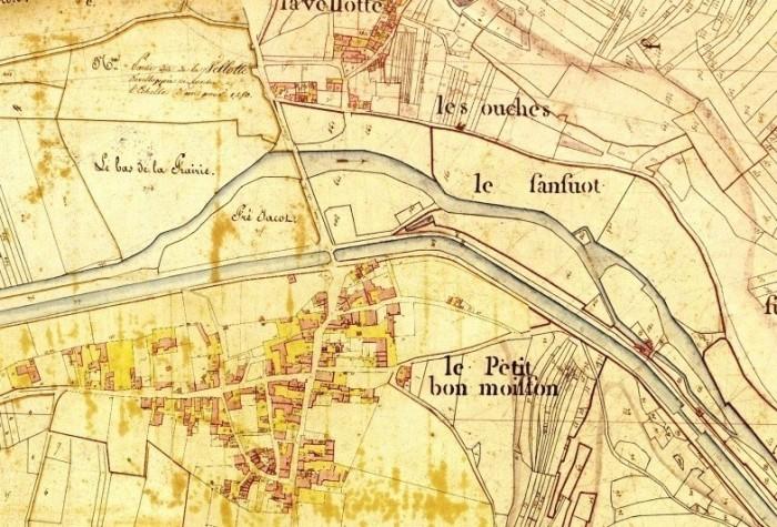 Plan de Fleurey avec canal