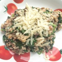 Recept: risotto met champignons & spinazie
