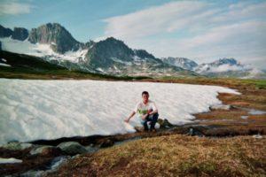 Patrick Huet Près de la source du rhône au col de Furka en Suisse.