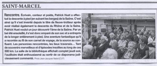 Conférence sur la Saône par le Fleuve-trotteur Patrick Huet