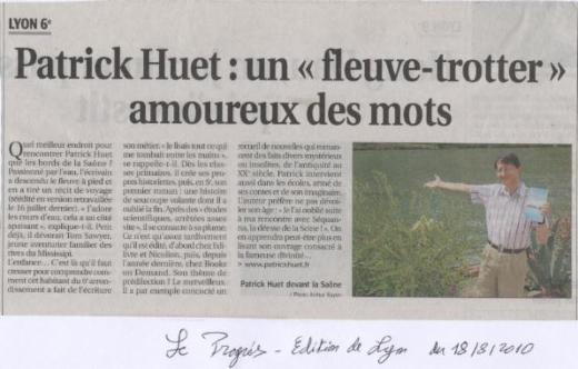 Patrick Huet présente son livre en Bord de Saône
