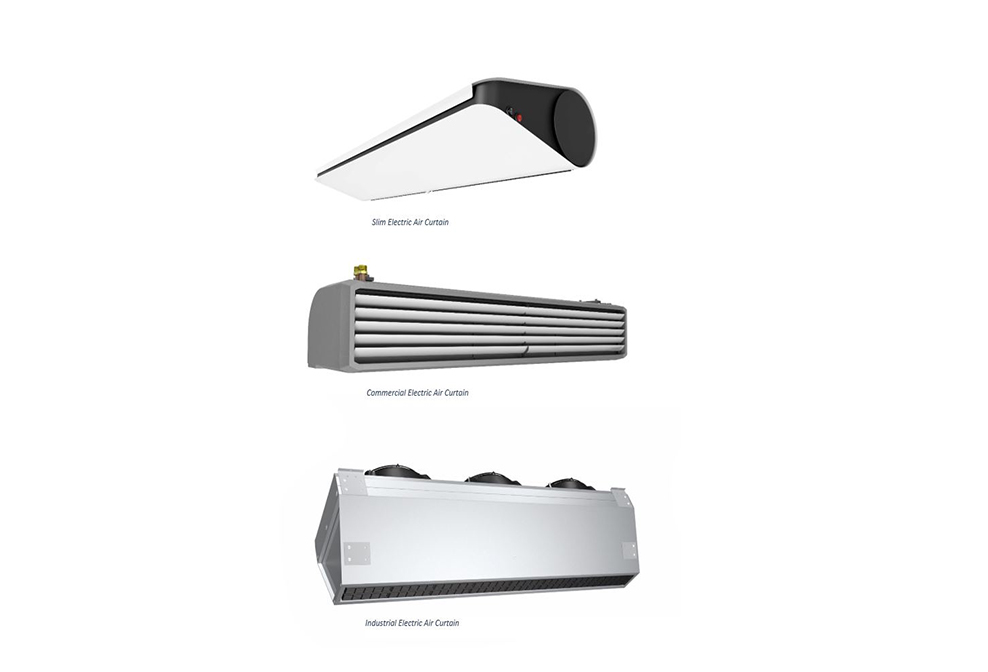 electric air curtains over door heaters commercial industrial uk