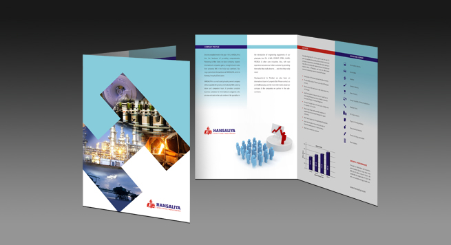 One Fold Brochure Design For Engineering Equipments