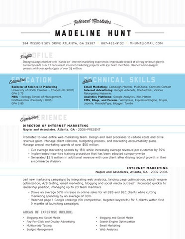 are some of our favorite ideas for making a creative looking resume
