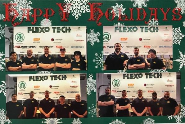 Flexo Tech Happy Holidays Card printed by Flexo Tech
