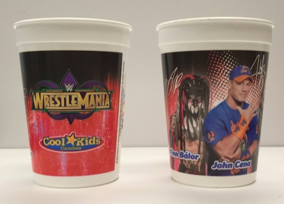WWE WrestleMania Cool Kids Combos Cup printed by Berry Global