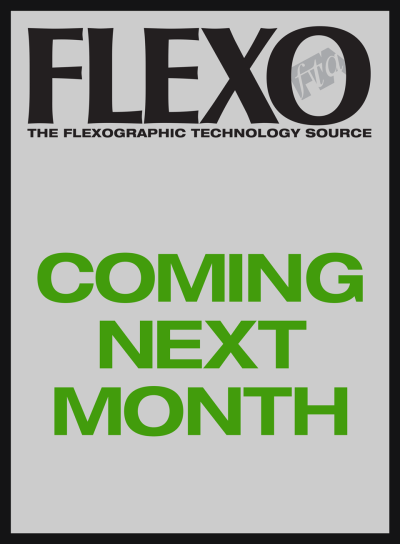 FLEXO Magazine coming next month green text
