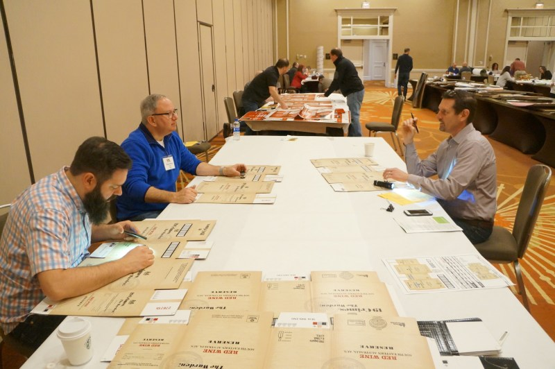 2019 Excellence in Flexography Awards combined corrugated judging