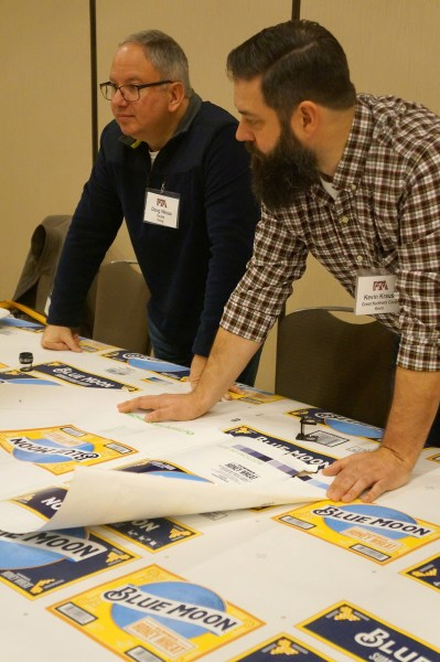 2019 Excellence in Flexography Awards preprinted linerboard judging