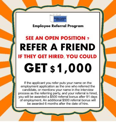 Flexo Tech Oetjen Employee Referral Bonus Program