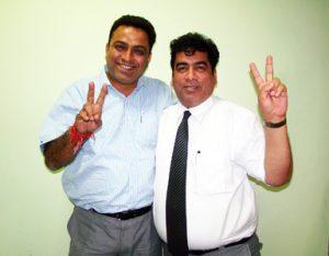 Mr. Gourav Roy, M.D. Of Flexo Image Graphics with Mr. Sanjeev Sondhi of Zircon Technologies