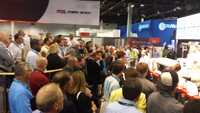 Live presentations of the Mark Andy Digital Series press were well attended at the recent Labelexpo Americas 2014 event