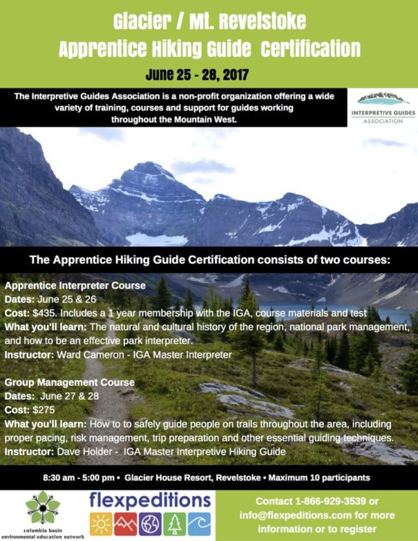 Apprentice Interpreter & Hiking Guide Course