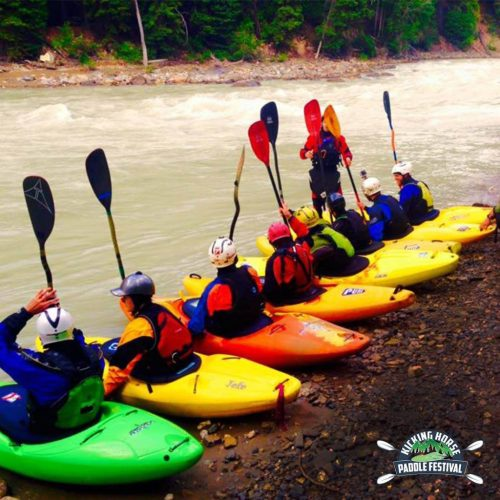 Whitewater Kayak Clinics on the Kicking Horse River in Golden