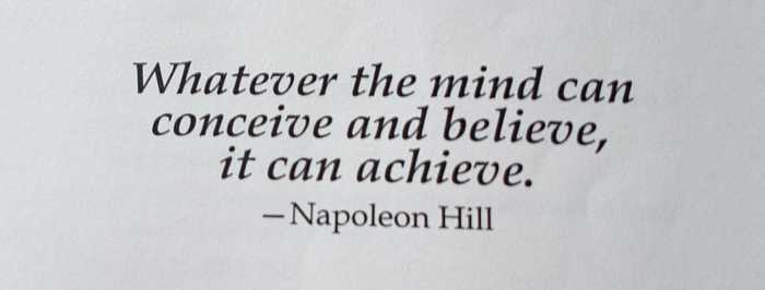 Quote of Napoleon Hill's Think Grow Rich summary