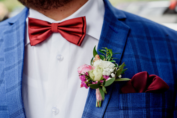Cloud Style Hochzeitsanzug Set Ein Knopf Jackett Hose