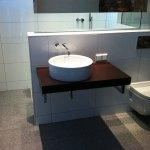 Rundes Waschbecken im Badbereich