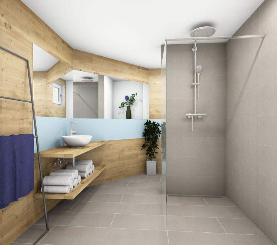 Sauna-Bereich im Badezimmer - Den eigenen Wellnessbereich ...