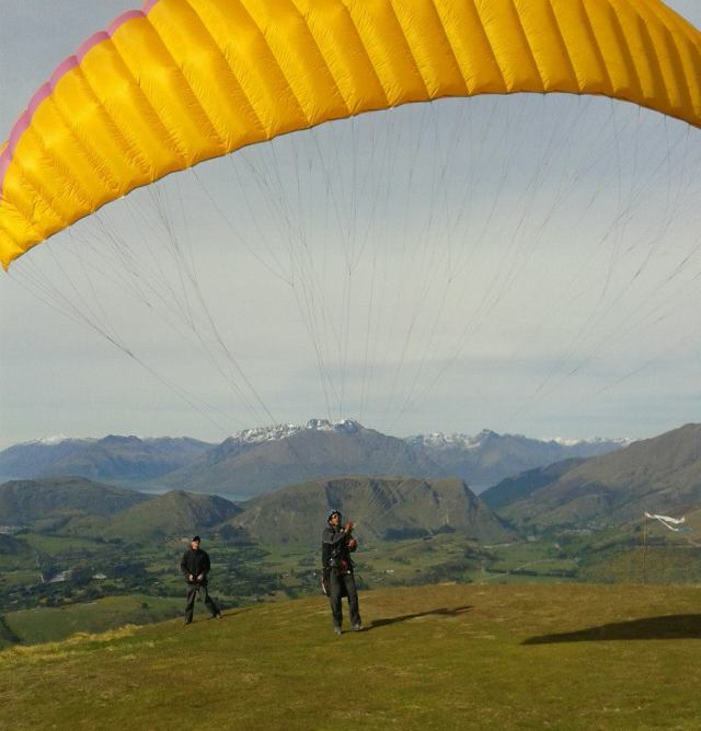 Larry Paragliding in Queenstown, New Zealand