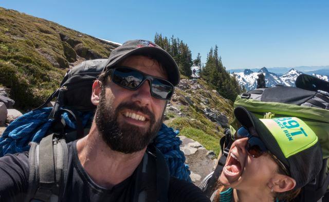 Hiking Up Mt. Rainier, Washington