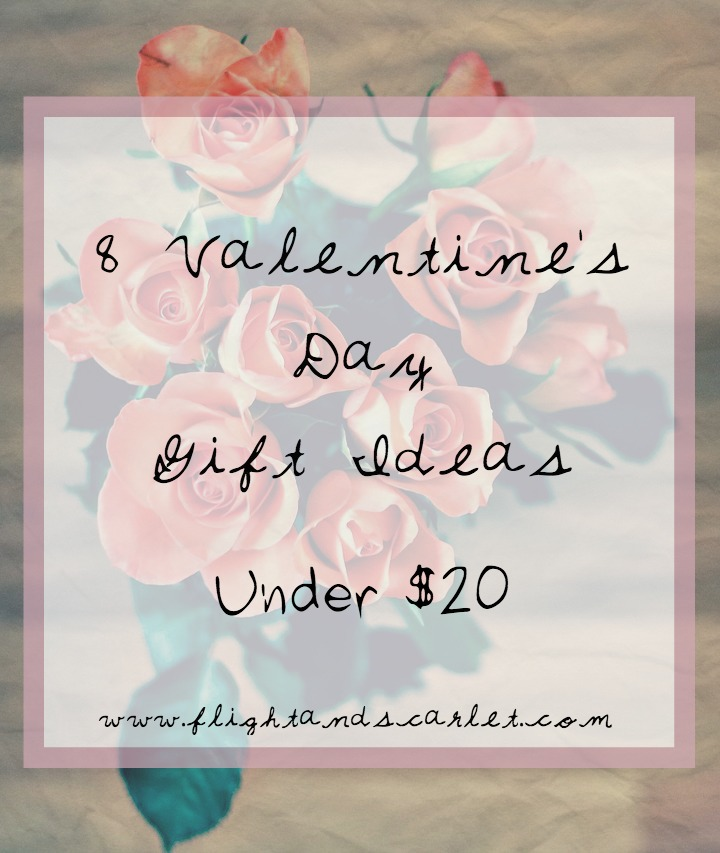 Need a few gift ideas under $20? I got you covered! | 8 Valentine's Day Gift Ideas Under $20 | www.flightandscarlet.com