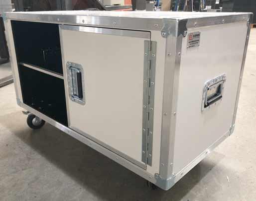 Flight case meuble de télévision blanc